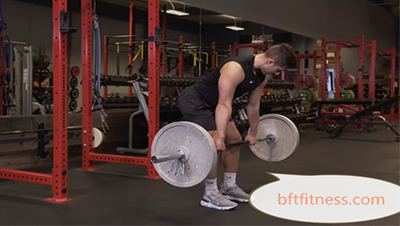 Several wrong actions common to barbell deadlifts