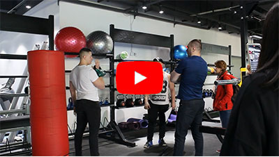 Customers from Russia are testing gym equipment in BFT Fitness.