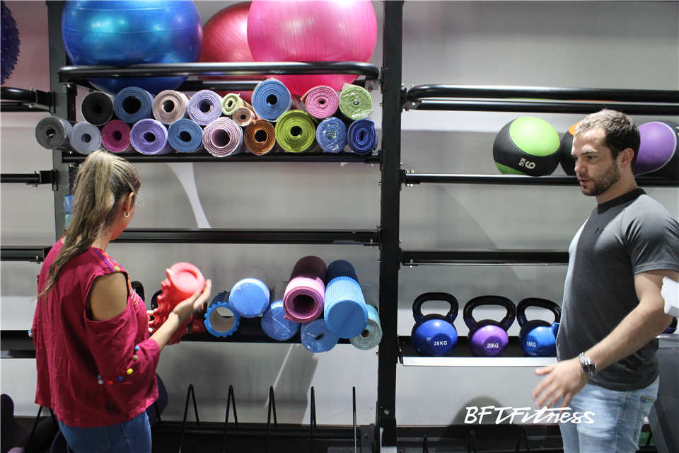 Customers Testing Fitness Equipment In BFT Fitness Show Room
