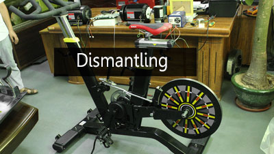 Dismantling BFT Fitness BSE09 Commercial Spinning Bike